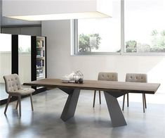 The Fiandre Luxury Dining table has a beautifully solid structure for a modern, designer dining table suitable for any modern interior Dining Suites, Luxury Dining Tables, Wooden Dining Tables, Dining Table Design, Dining Room Table, Table And Chairs, Dining Bench, Italian Furniture Stores, European Furniture