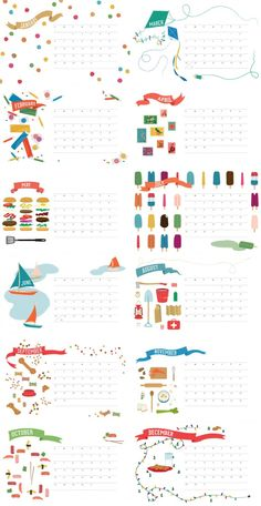2013 Free Printable Calendar: It's Finally Here! | Jeannie Huang