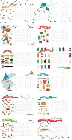 2013 free printable calendar