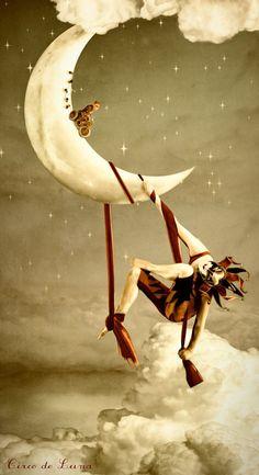 """Circo de la Luna"" by Manuela Unterbuchner. Because Moon in Leo is simultaneously daring and dramatic."