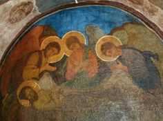 'Piedad', frescos de Mikhail Vrubel (1856-1910, Russia)