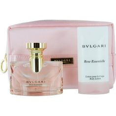 Bvlgari Bvlgari Rose Essentielle Set (Eau De Parfum Spray and Body Lotion and Pouch) by BVLGARI. Save 42 Off!. $60.45. Fragrance Notes: Ottoman Rose, Blackberry, Prelude Rose, Jasmine, Sandalwood, Violet, Patchouli. Design House: Bvlgari. Recommended Use: romantic. BVLGARI ROSE ESSENTIELLE by Bvlgari for WOMEN EAU DE PARFUM SPRAY 1.7 OZ & BODY LOTION 2.5 OZ & POUCH Launched by the design house of Bvlgari in 2005, BVLGARI ROSE ESSENTIELLE by Bvlgari possesses a blend of Ottoman Rose, ...