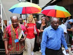 Crown Princess Mette Marit of Norway is currently on Tanzania as Special Embassador for UNAIDS