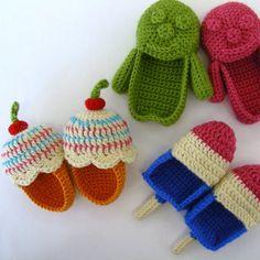 Ice Cream Booties Pattern (Crochet)