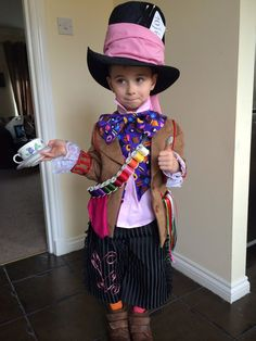 Mad hatter costume from Alice in wonderland made for bathgate gala day, made to be a replica of the one johnny depp wore when he played the mad hatter! Had great fun making this costume!