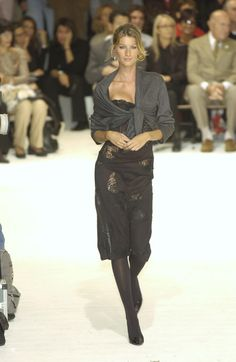 Dolce & Gabbana Spring 2002 I was obsessed with this entire collection and Gisele's legs!