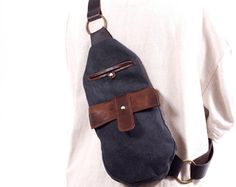 leather one strap bag – Etsy CA