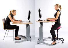Door een kruk (op de juiste manier) te gebruiken, neemt je lichaam bijna automatisch een ergonomische houding!