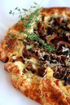 mushroom + ricotta tart... More