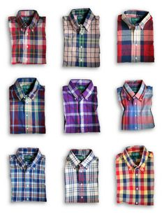 Now because natural and romantic does blending rather than contrast, it is suggested that SN men avoid checks and go pretty much exclusively for plaids.