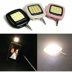 Selfie Lamp for Camera Sebagai lampu flash tambahan untuk memaksimalkan hasil foto. cocok untuk selfie. hanya tinggal tancep ke Hp / tablet . - Smartphone Portable Mini 16 Leds LED Flash Fill Light for iPhone IOS Android WP - 16 LEDs Portable Mini Powerful Photography Light Selfie Flash Fill Light For Smartphone IOS Android Portable multifunction miniature built-in flash 16 LED bulb -It can use the free application synchronize connected iOS Android and WP8 such as smart phones and tablet…