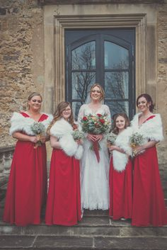 Charlotte and Steven's Christmas wedding at Walworth Castle, Darlington. Image Claire Hirst Christmas Wedding Centerpieces, Christmas Wedding Decorations, Christmas Themes, Winter Wonderland Wedding, Hirst, Wedding Favours, Beautiful Christmas, Perfect Wedding, Claire