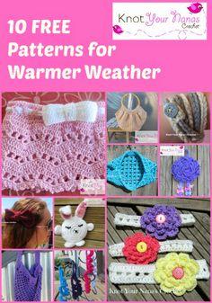 Crochet Patterns for Summer - Knot Your Nana's Crochet