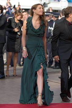 Like always, no words for Carlota Casiraghi in Gucci green maxi dress