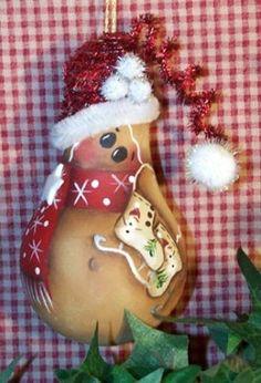 lightbulb crafts | Gingerbread Light Bulb Ornaments