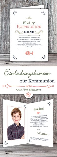 Vintage-Einladungen zur Kommunion ab 0,60 Euro online gestalten lassen   #Kommunion #Konfirmation #Einladungen #drucken #Einladungskarten #Erstkommunion #Vintage #Retro