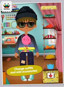 Stuck inside with bad (or really, really, REALLY bad) weather?  Download the newest app from Toca Boca.  It's great for kids 4-9 or so.
