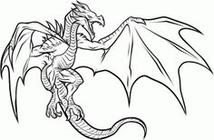how to draw a dragon from skyrim step 9