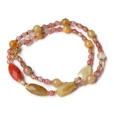 Long Peach Gold Wabi Sabi Necklace Natural by ALFAdesigns on Etsy #seypush #google