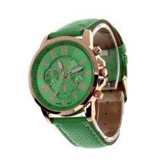 Excellent Quality 11 Colors Fashion Watch Clock Women Men Roman Quartz-watch Leather Analog quartz watch Relogio Watches