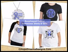 Shop Esophageal Cancer Shirts, Tees and Gifts by http://hopedreamsdesigns.com/esophageal-cancer-shirts-tees-and-gifts/