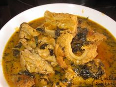 Classic bitterleaf soup: Traditional soup from Anambra State eastern Nigeria. This is one of my likes.