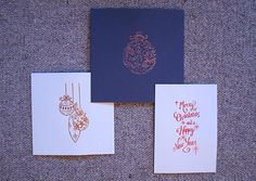 DIY Christmas cards : Embossed christmas cards