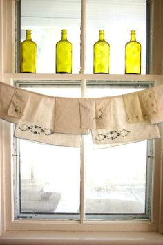 Kitchen Curtain window valance one of a by TheLittleRagamuffin, $38.00