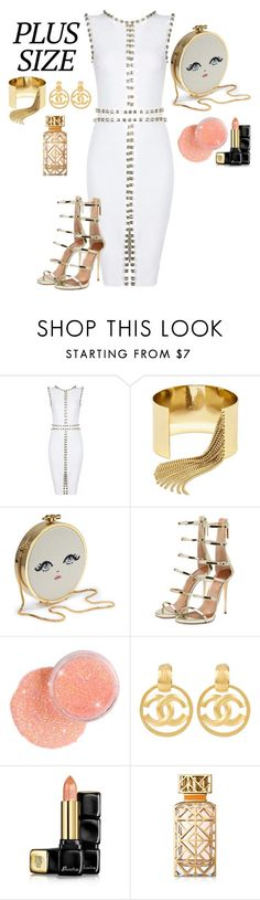 """Plus Size Party Lady"" by poshgirlus on Polyvore featuring BaubleBar, Posh Girl, Chanel, Guerlain and Tory Burch"