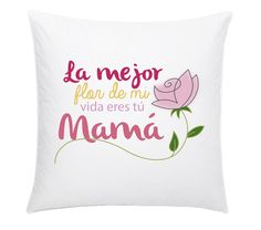 Cojín Flor Homemade Gifts, Bed Pillows, Applique, Merry, Diy Crafts, Mom, Creative, Mother's Day, Gifts