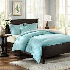 3 Piece Duvet Cover Set in Blue