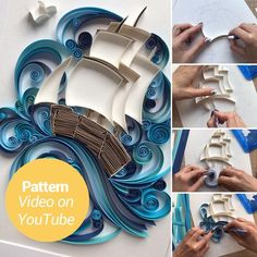 Quilling Letters, Paper Quilling Patterns, Quilling Paper Craft, 3d Quilling, Paper Crafts, Quilling Videos, Quilling Techniques, Lotus Art, Quilling Tutorial