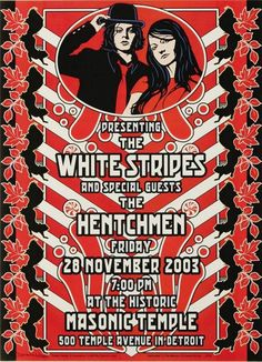 The White Stripes-Masonic Temple,Detroit 2003 Poster Print