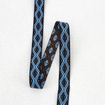 """Inca 5/8"""" Jacquard Trim - Blue"""