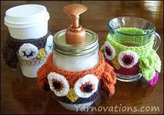Mason Jar Soap Dispenser with Crochet Owl Cozy