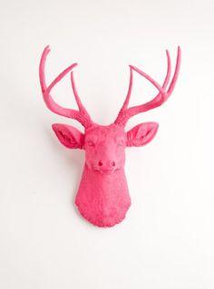 The Alejandra | Resin Deer Head | Pink Deer Head Wall Decor | Stag Head Wall Mount | Faux Taxidermy | Animal Head Wall Hanging Sculpture | Animal Mounts | Trophy Taxidermy White Faux Taxidermy http://www.amazon.com/dp/B009JUQPF6/ref=cm_sw_r_pi_dp_hfmMtb0RJXBSNXWR