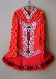 Charming Orange Gavin Doherty Irish Dance Dress Solo Costume For Sale