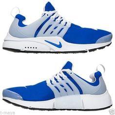 f6c9dce9364b Nike Air Presto Men s M Mesh Running Racer Blue - Black - White Authentic  USA