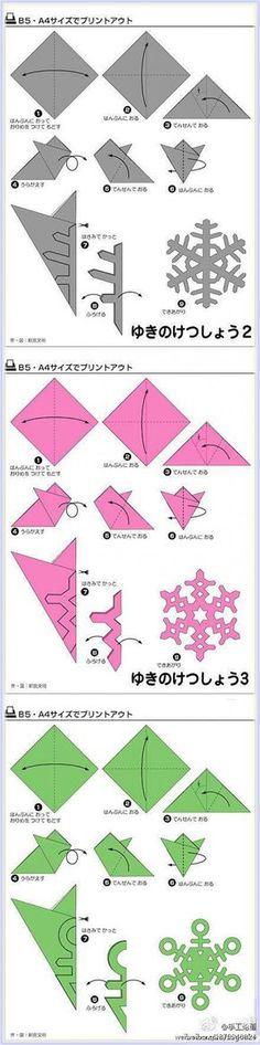 Sneeuwvlokken te maken voor kinderen met de kerst