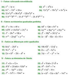 Matemática Muito Fácil - Álgebra - Fatoração Algébricas - Parte II
