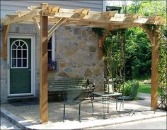 The Attached Breeze Cedar Pergola from Outdoor Living Today helps you keep cool in the summer. Relax in comfort under this solid cedar Pergola. Diy Pergola, Louvered Pergola, Cedar Pergola, Small Pergola, Pergola Swing, Pergola With Roof, Small Patio, Modern Pergola, Wisteria Pergola