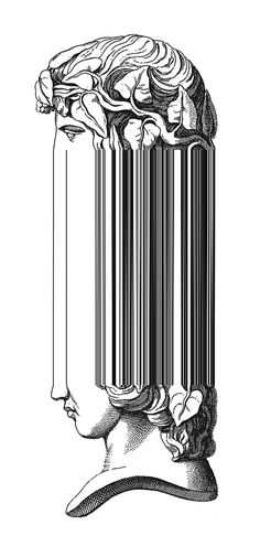 Distorted figure. Look! It makes a barcode! What if I could do this with QR codes?