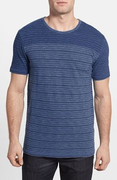 Free shipping and returns on Lucky Brand Yarn Dye Stripe Crewneck T-Shirt at Nordstrom.com. Yarn-dyed stripes pattern a supersoft T-shirt characterized with a vintage fade from the chest to the hem.
