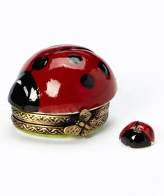 This Ladybug French Porcelain   Box is perfect! #zulilyfinds