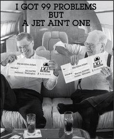 Bill Gates & Warren Buffet : I Got 99 Problems But A Jet Ain't One