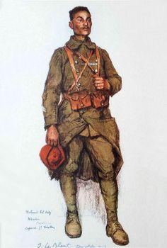 Les troupes coloniales en Rhénanie | BEL HADJ Mohamed, Mdakra, Casablanca, Caporal au 7ème rég. de tirailleurs, Ludwigshafen, avril 1919
