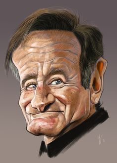Robin Williams Caricature....R.I.P. ❤