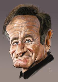 Robin Williams Caricature....R.I.P. ❤