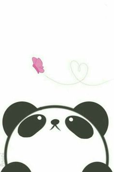 Imagen de panda, kawaii, and wallpaper: - Imagen de panda, kawaii, and wallpaper: La meilleure image selon vos envies sur diy crafts Vous cher - Panda Kawaii, Niedlicher Panda, Panda Art, Panda Love, Kawaii Cute, Panda Wallpapers, Cute Wallpapers, Desktop Wallpapers, Kawaii Drawings