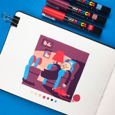 Inktober 2018 on Behance Posca Marker, Marker Art, Posca Art, Arte Sketchbook, Art Graphique, Pen Art, Pretty Art, Aesthetic Art, Cute Drawings